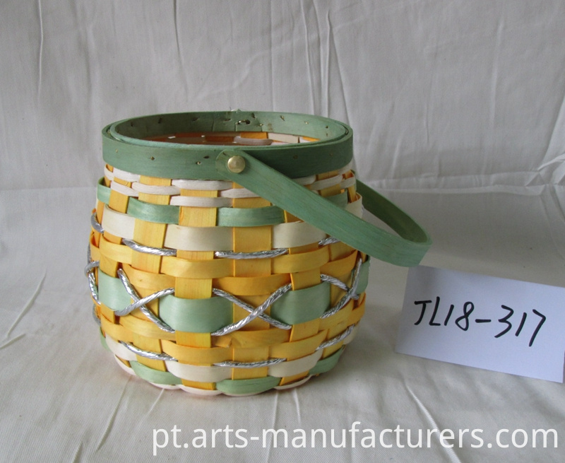 wood chip flower pot